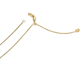 Leslies Real 14kt Yellow Gold .8 mm Snake; 24 inch