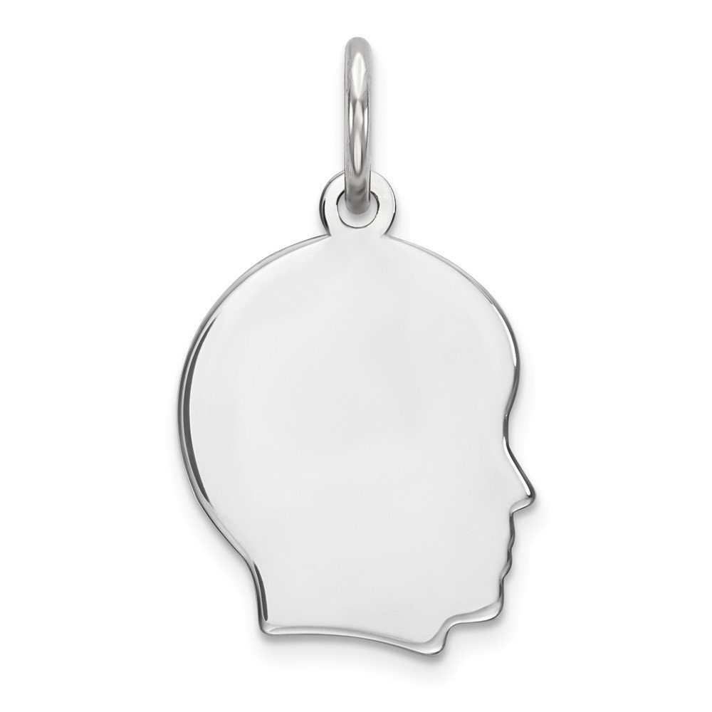 Oval Polish Front//Satin Back Disc Charm Beautiful Sterling silver 925 sterling Sterling Silver Rhod-plate Eng