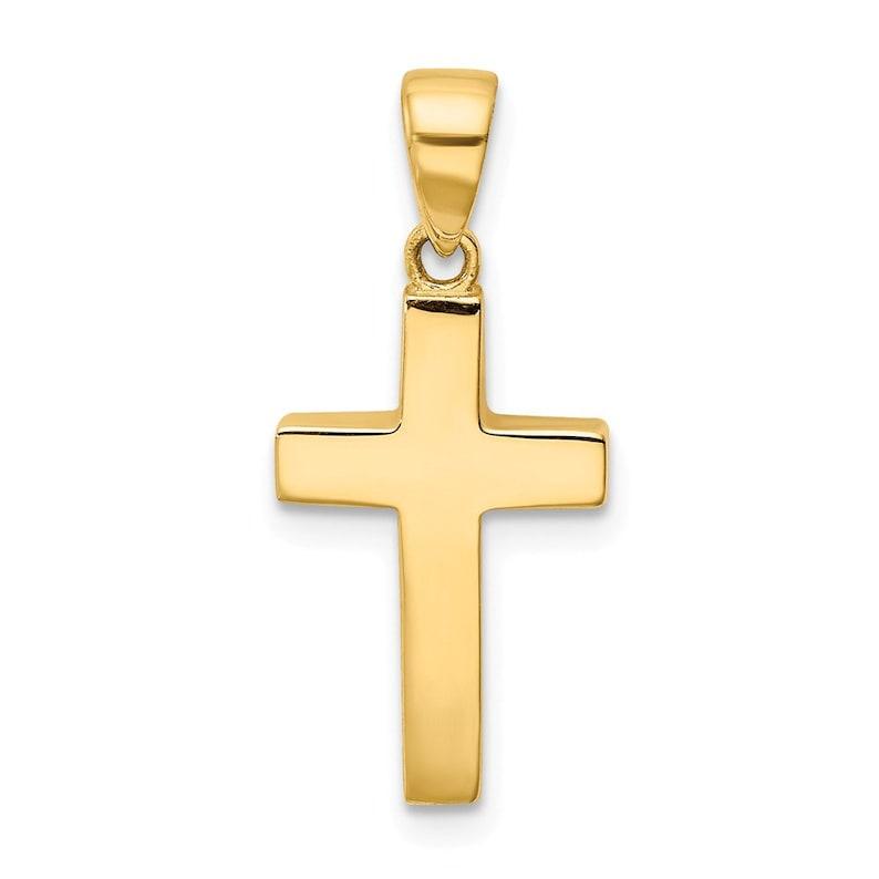 14K Cross Pendant New Charm Yellow Gold