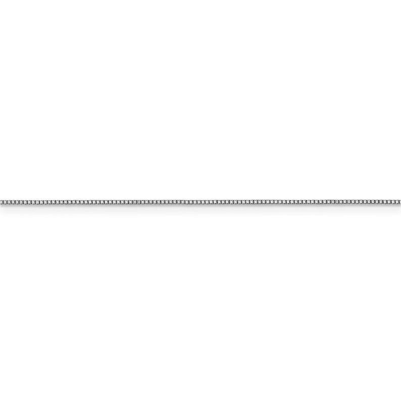 Leslie/'s 14K White Gold .7 mm Box wLobster Chain