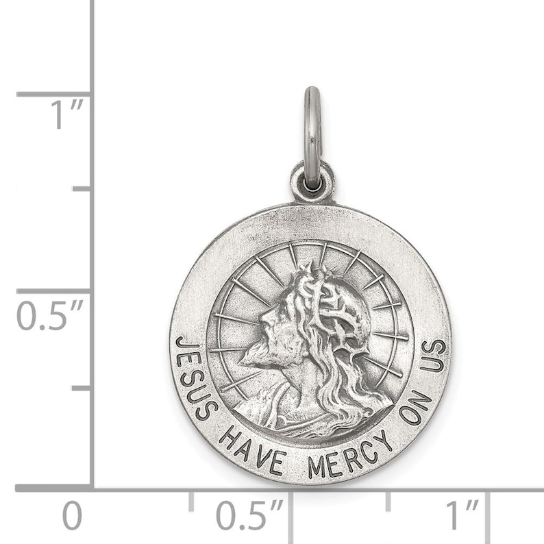 Sterling Silver Jesus Have Mercy Medal New Religious 925