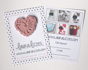 LauraLizzies Gift Card / Unique gift card / Baby shower gift