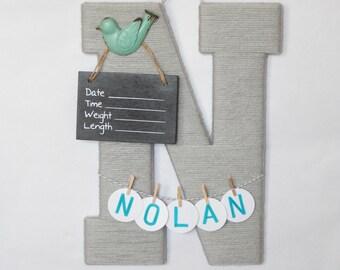 Hospital door hanger / Baby shower gift / Nursery decor / Personalized baby boy name / Birth announcement ideas / hospital decor