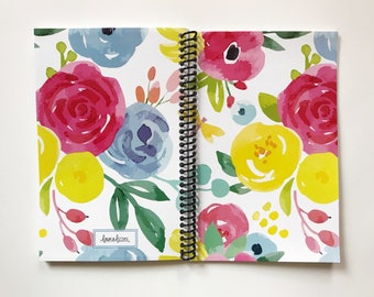New Cover: FLORAL!  Daily Baby Schedule Book, Nursing Journal, Feeding Scheduling for Baby, Customized Cover