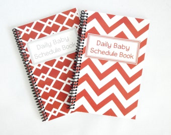 School Spirit - Daily Baby Schedule Book - burnt orange