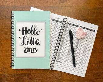 Gender Neutral Daily Baby Schedule Book / Nursing Journal /  Feeding Scheduling for Baby / Baby Log / Newborn Journal