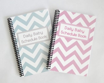 Twin Daily Baby Schedule Book, Nursing Journal, Feeding Scheduling for Baby, Customized Cover