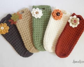 Wholesale - Crochet Wine Holders, Wine Cozy, Wine Tote - QTY 10, 20 or 50