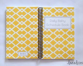 Diamonds -  Daily Baby Schedule Book, Feeding journal, Nursing schedule Book