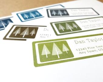 Personalized Return Address Label stickers Pine Tree Address Labels Pine Tree Wedding Labels Pine Tree Return Address Stickers 60 Labels