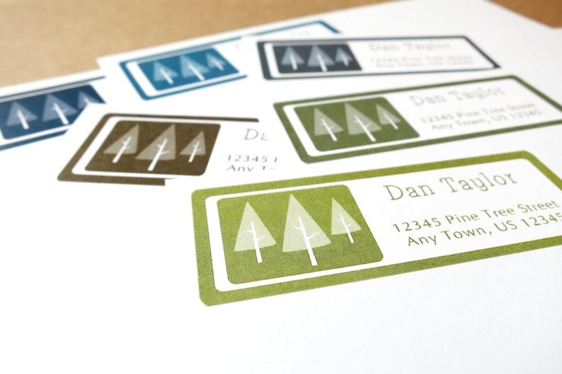 Pine Tree Address Labels Pine Tree Return Address Stickers image 0