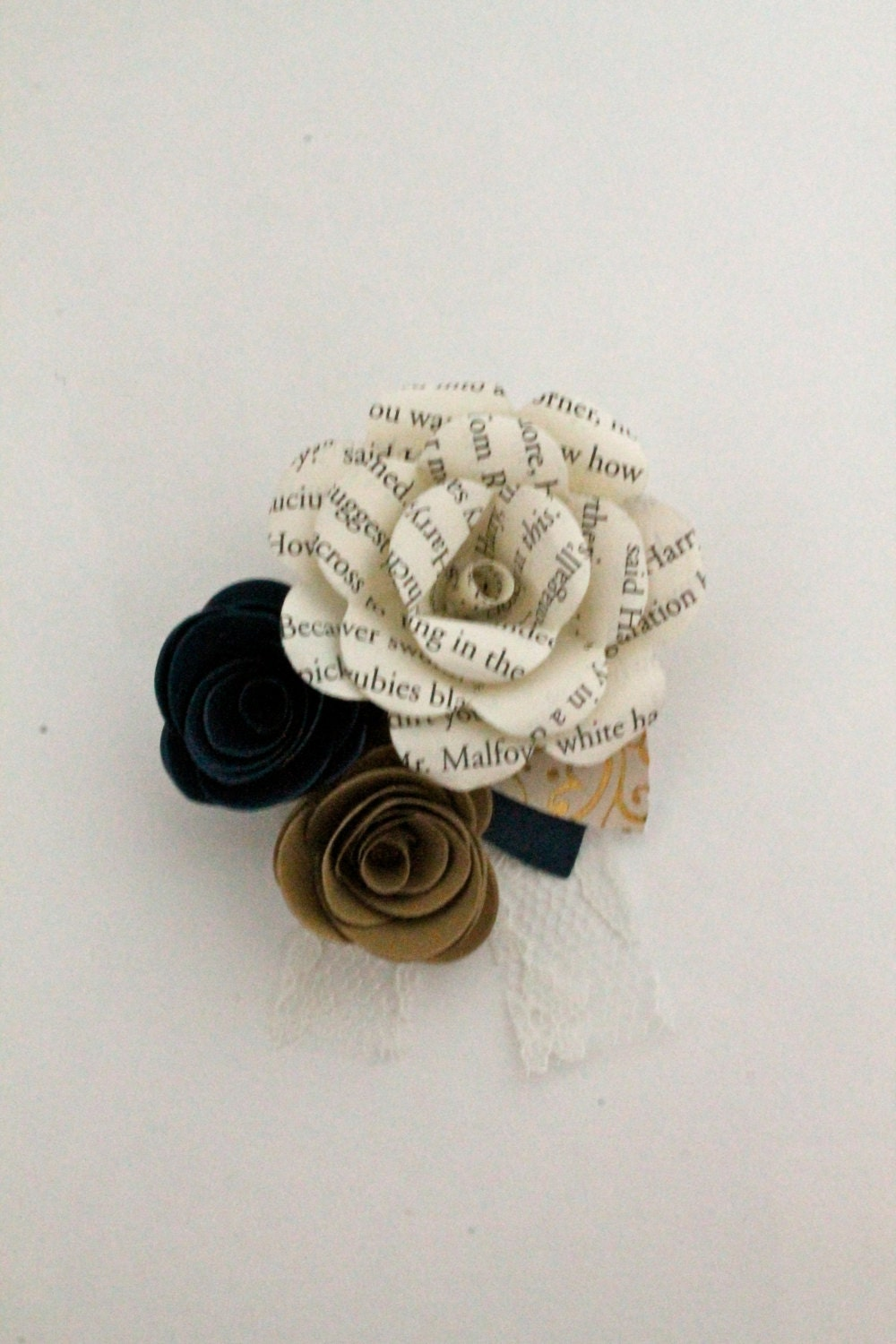Paper Flower Pin Up Corsage Etsy