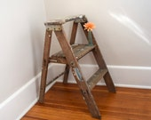 Step Stool, Kitchen Stool Shabby Chic, Wood Stool, Wood Ladder, Step Ladder