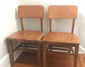 Vintage Wood School Chairs, Adult Size 18 quot , Library Chairs, Solid Wood, Large Quantity
