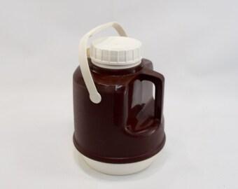 Drink Dispenser, Brown Cooler, 80's