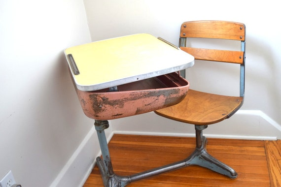 Astonishing Vintage School Desk Wood And Metal American Seating Adjustable Adult Size Old School Desk Ocoug Best Dining Table And Chair Ideas Images Ocougorg