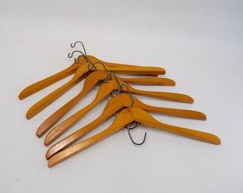 Vintage Wire Hangers Set of Six, Large Quantity