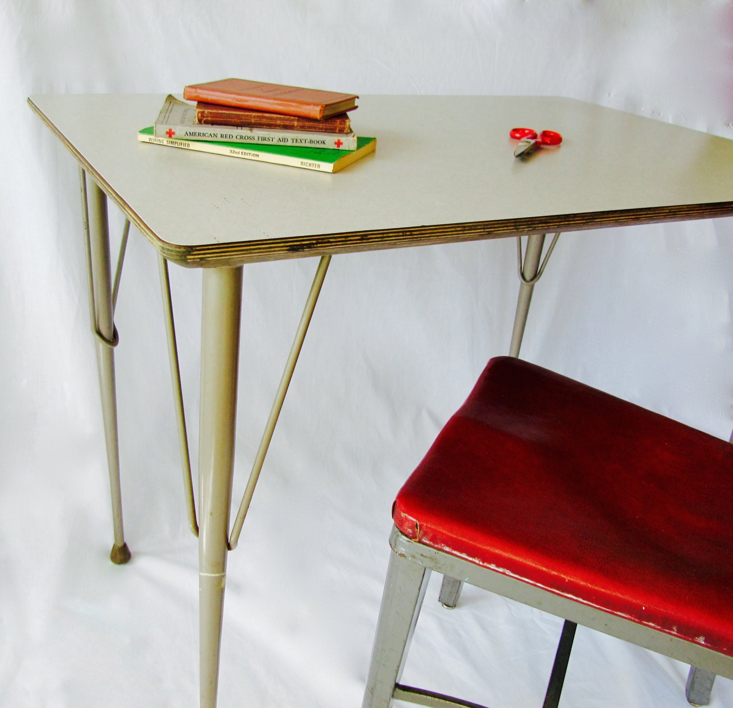 Brunswick Table School Furniture Writing Etsy Wiring Simplified Book Zoom