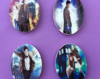 Magnety Wobbly Timey Wimey - Set of 4 Dr. Who Magnets