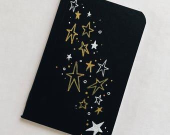 Hand Drawn Stars Pocket Notebook