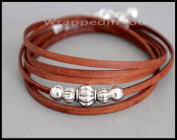 Leather Wrapped Cord : Make a wrapped leather secret code bracelet