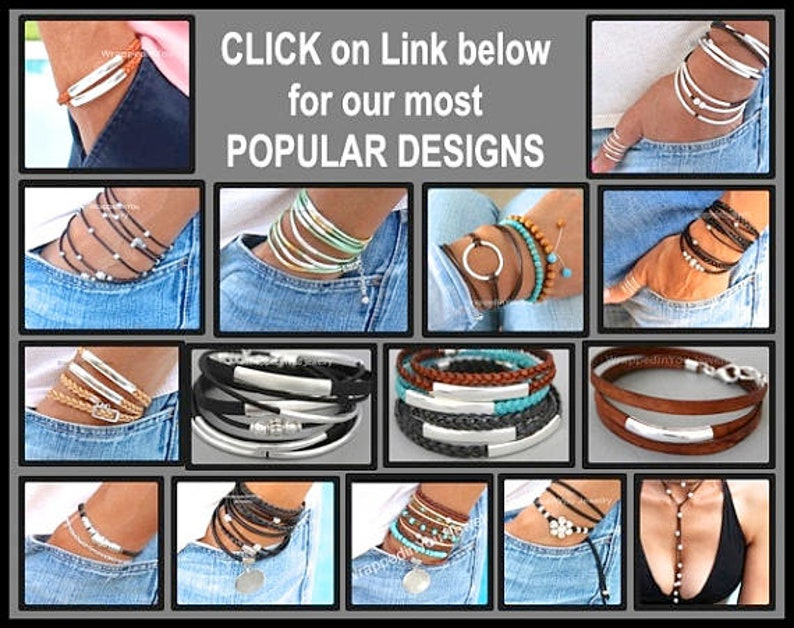 118 90 Long Faux Suede Cord Hammered Silver Circle Square Charm Focal FRESHWATER Pearl Choker Scarf Multi Wrap Lariat Bracelet Anklet