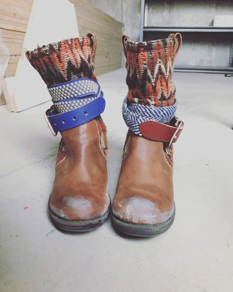 brand new 10969 ef23d Used Look Boho Stiefel
