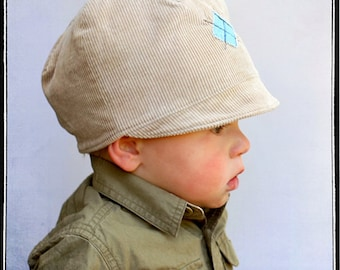 INSTANT DOWNLOAD Little Cap Newsboy PDF Sewing Pattern by Leila and Ben