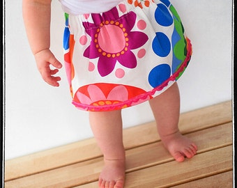 INSTANT DOWNLOAD Simple Skirt PDF Sewing Pattern sizes 12m to 5T Leila and Ben
