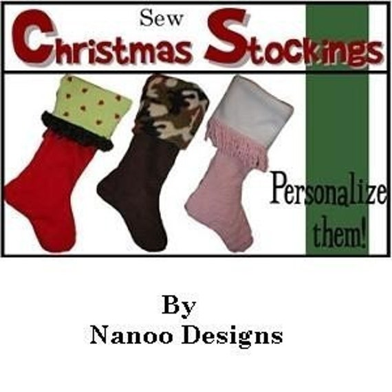 INSTANT DOWNLOAD Christmas Stocking PDF Sewing Pattern by   Etsy