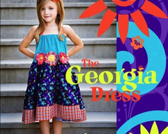INSTANT DOWNLOAD The Georgia Dress PDF Sewing Pattern for girls sizes 12m to 10 by ZozoBugBaby