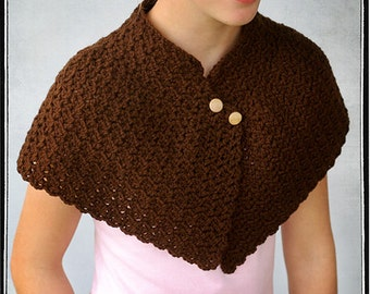 INSTANT DOWNLOAD Crochet Adult Capelet PDF Pattern by Leila and Ben