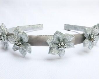 Hairband, 5 Silver Flower-Stars Headband for Little Girls