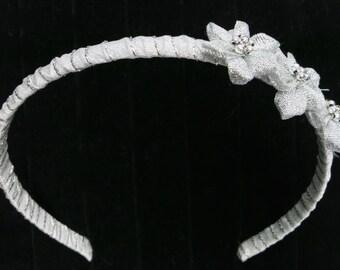 Hairband, 3 Silver Flower-Stars Headband for Little Girls
