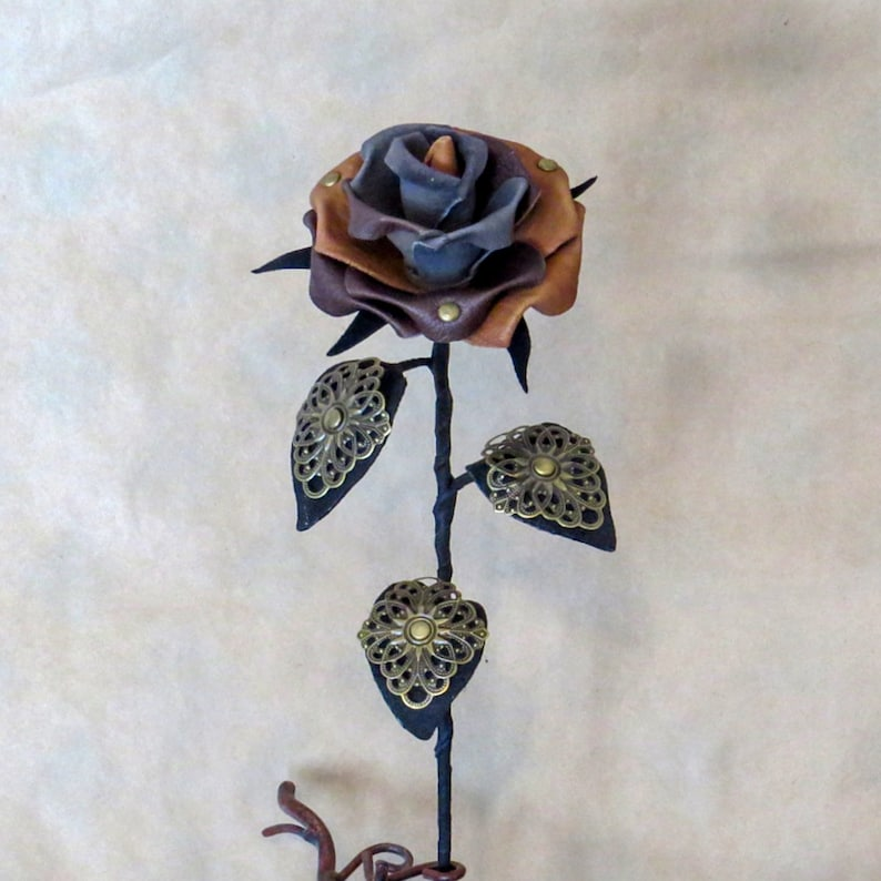 Steampunk Leather Roses image 0