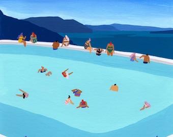 "Art print of original painting - ""Santorini Summer"""