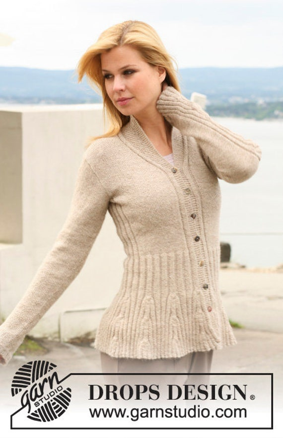 42100a4a Hand knitted ladies cardigan with rib pattern - alpaca S - XXXL - made to  order - womens clothing - ladies knitwear