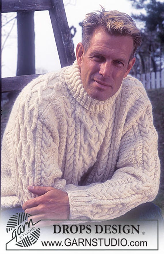 jumper for cable sweater ladies jumper Aran knit unisex knitted or aran jumper Hand sweater women knit style men's men cable q0H7p
