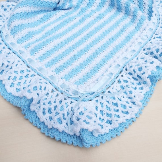 Hand-crochet-baby cardigan,blanket,bonnet and shoes-in-slanting-stitches