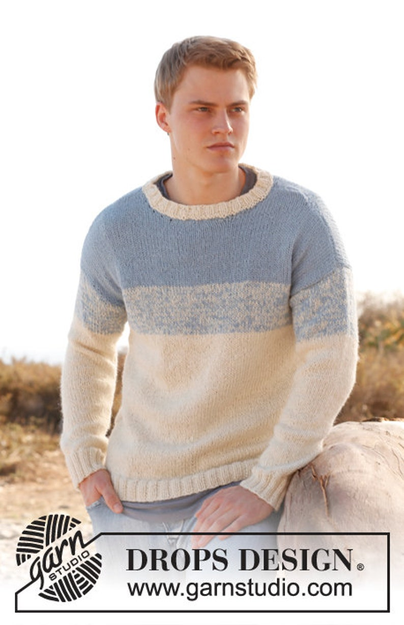 Hand knitted mens alpaca sweater jumper in two colours  S  image 0