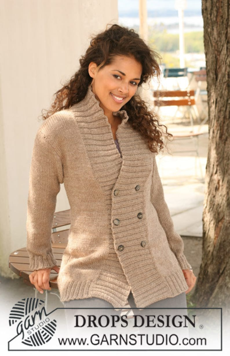 e5def1a1 Hand knitted ladies cardigan with ribbed bands - alpaca S - XXXL - made to  order - womens clothing - ladies knitwear