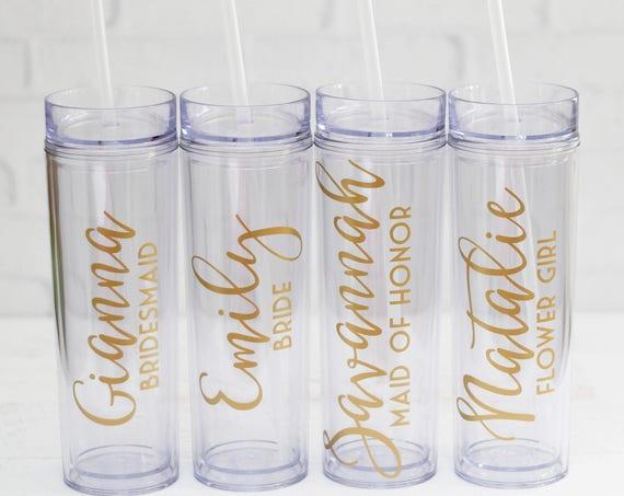 skinny tumbler gold gold skinny tumbler skinny tumbler cups acrylic tumblers bachelorette cups bachelorette party favors bridesmaid proposal