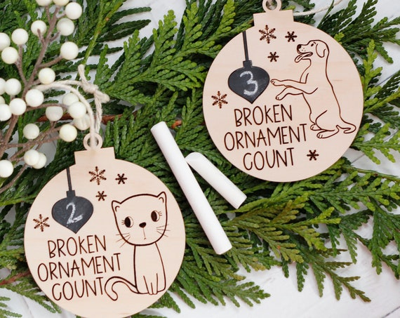 Funny Cat Christmas Ornament / Funny Dog Christmas Ornament / Christmas  Decoration 2020 / Ornament for Cat Lover