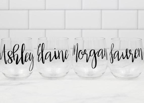 Personalized acrylic wine glasses Girls Weekend Ideas Girlfriends Weekend Custom Wine Glass Personalized Bachelorette party favors