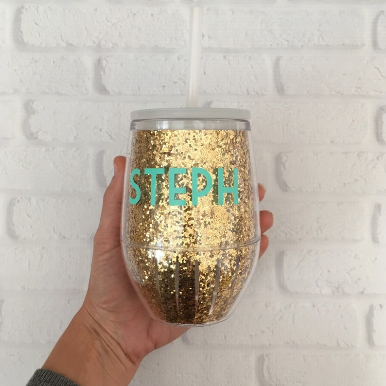 14b936670c6 Glitter Wine Glass // Girls Weekend // Bachelorette wine glass // Girls  trip // Bridal Party // Tailgate