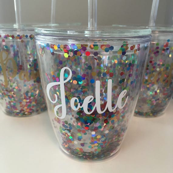 Bridal party tumblers // confetti cup // party cup // bachelorette party favors // bridal party gifts // girls weekend gifts // birthday