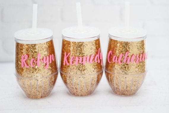 Wine Glass Tumblers // Bachelorette Party Favors  // Girls Weekend Gift