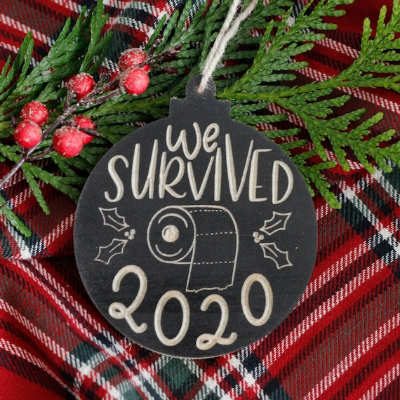 2020 Christmas Ornament / We survived 2020 Ornament / Funny 2020 ornament / toilet paper ornament / Christmas Decoration 2020
