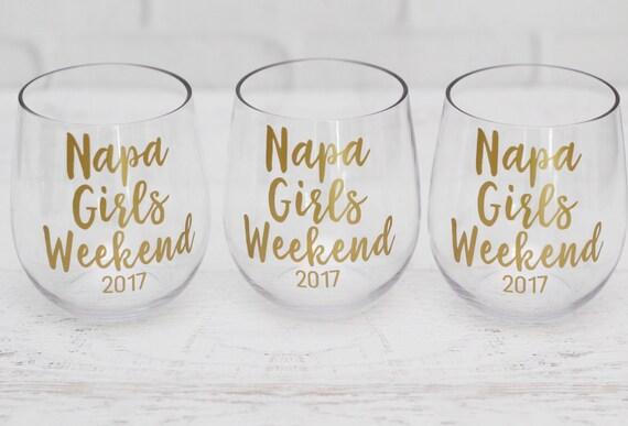 Napa Bachelorette // Girls Trip Gifts // Napa Valley Wine Glass