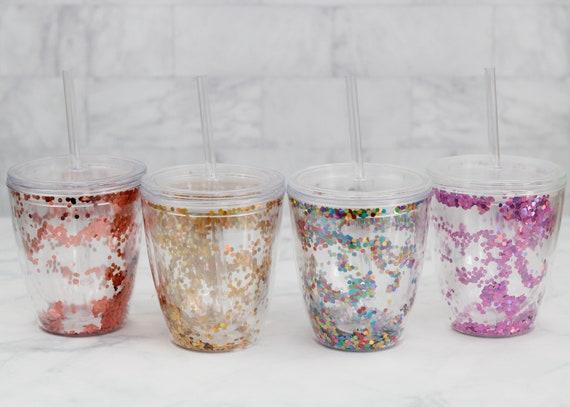 Confetti Tumbler Blank // pink confetti tumbler // gold confetti tumbler // pink confetti tumbler